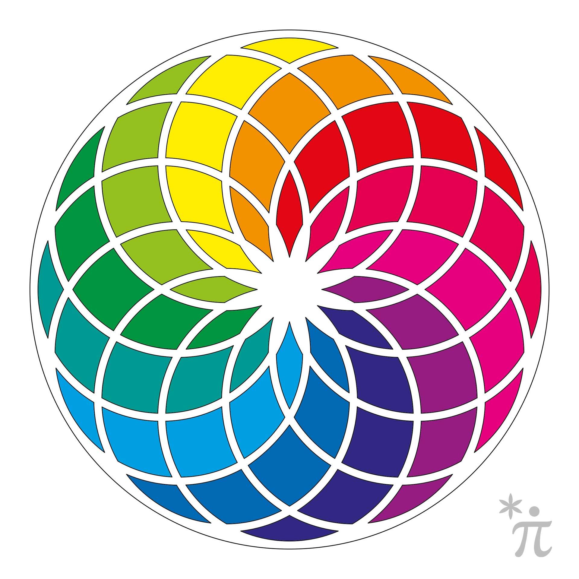 Torus der Lebensblume als Farbenkreis
