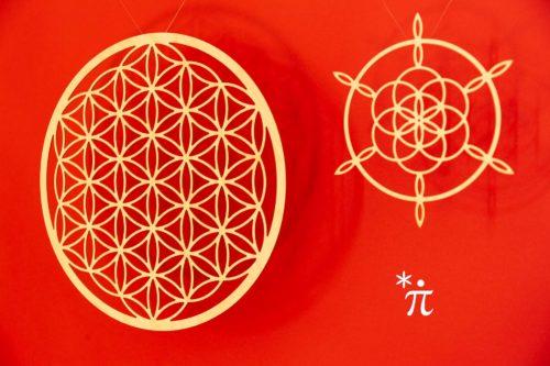 Lebensblume-aus-Holz-Birke-34cm-Fibonacci-Siegerblume-21cm-roter-Hintergrund