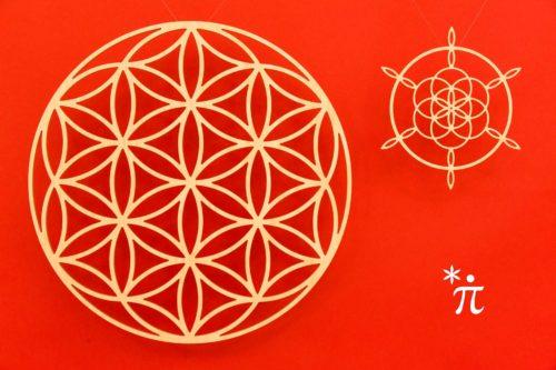 Saat-des-Lebens-aus-Holz-39cm-Siegerblume-21cm-rote-Wand